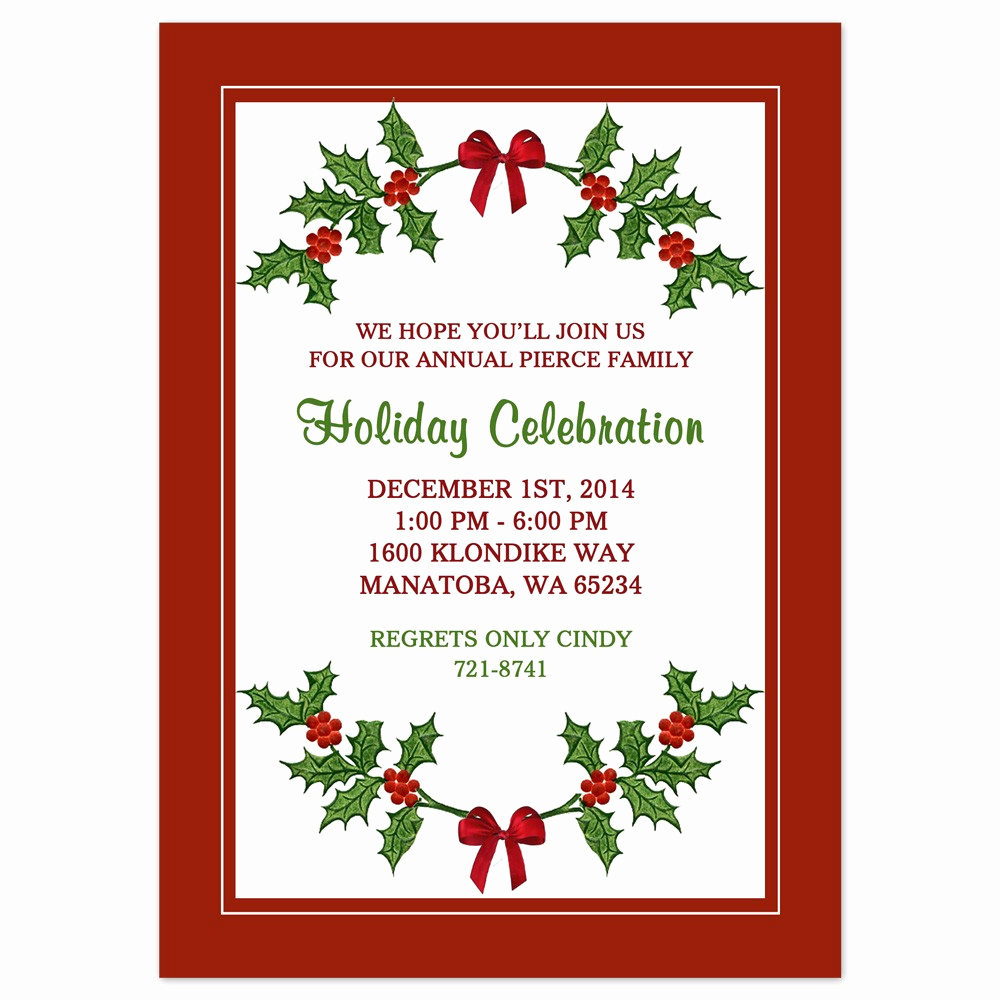 Free Printable Christmas Invitation Templates Unique Free Downloadable Holiday Invitations