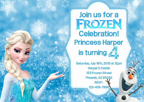 Free Printable Frozen Invitation Template Awesome 12 Frozen Birthday Invitation Psd Ai Vector Eps