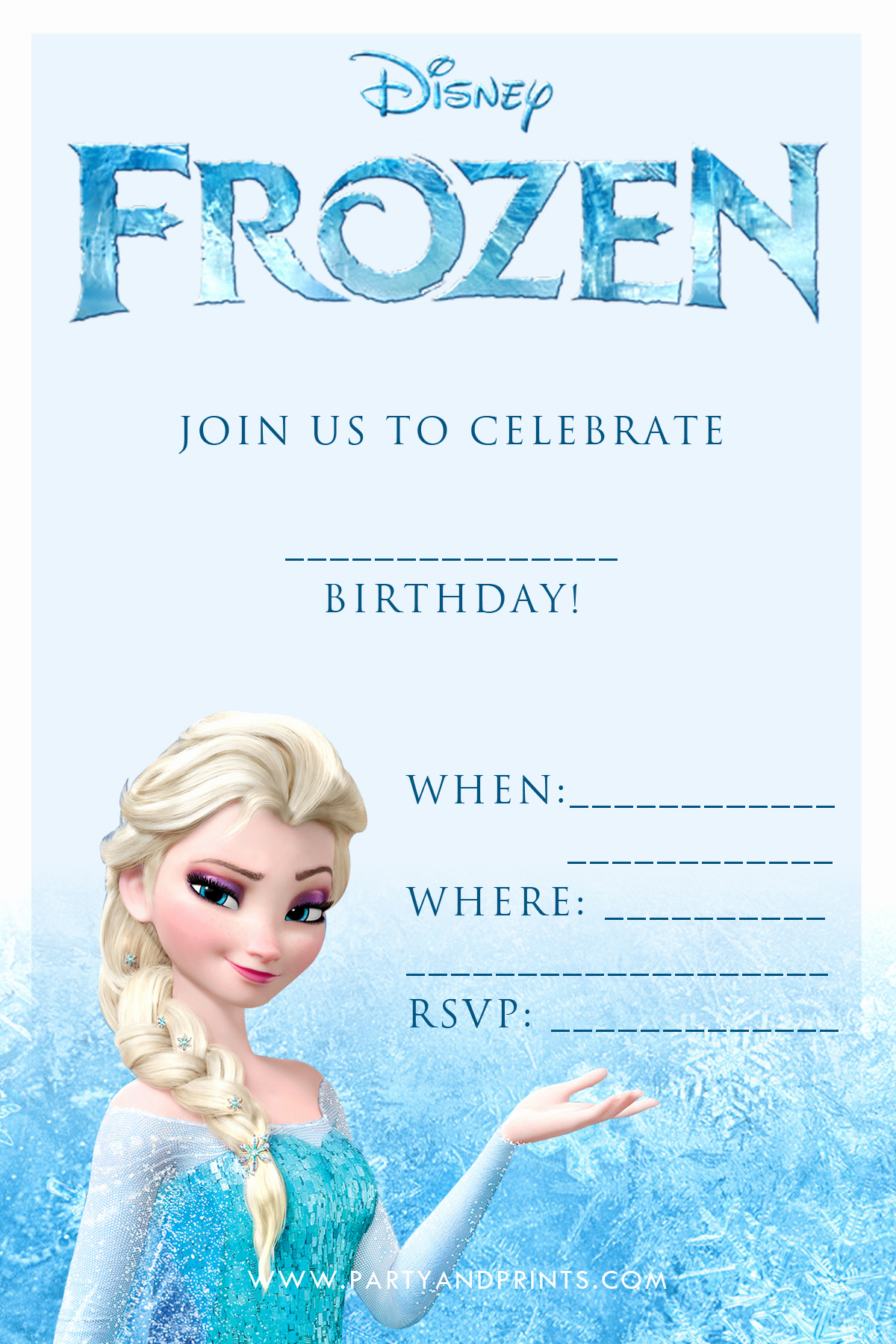 Free Printable Frozen Invitation Template Best Of 20 Frozen Birthday Party Ideas