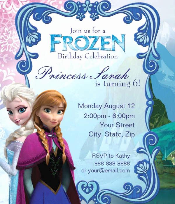 Free Printable Frozen Invitation Template Inspirational 13 Frozen Invitation Templates Word Psd Ai