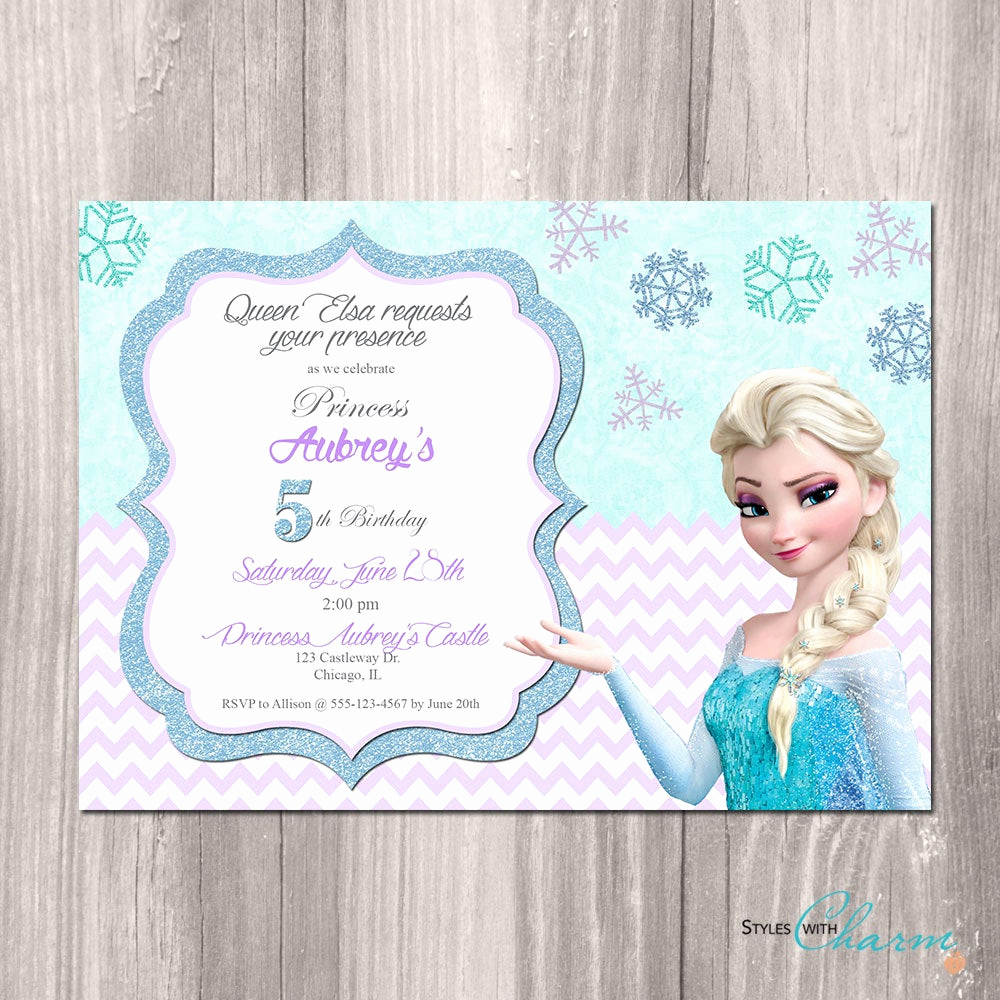 Free Printable Frozen Invitation Template Inspirational Frozen Birthday Invitation Frozen Printable by Styleswithcharm