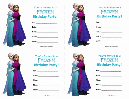 Free Printable Frozen Invitation Template Inspirational Frozen Birthday Invitations Free Printable
