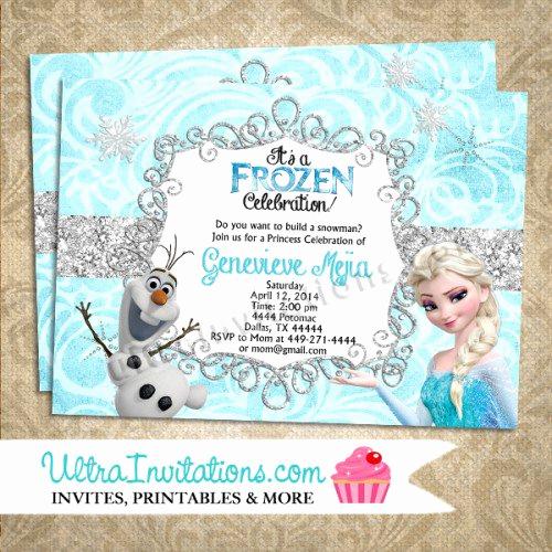 Free Printable Frozen Invitation Template Inspirational Frozen Printable Birthday Invitations Blank