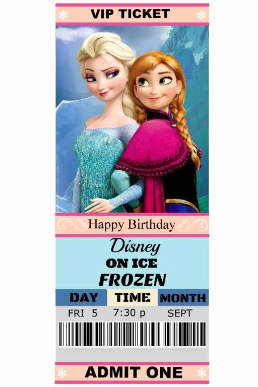 Free Printable Frozen Invitation Template Lovely Our Daughter Madison S 6th Birthday T Disney Ice