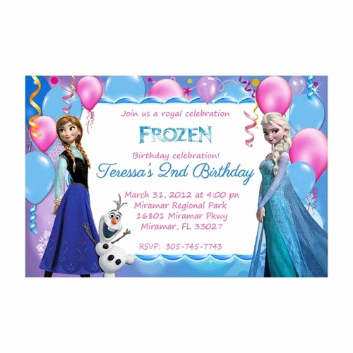 Free Printable Frozen Invitation Template Unique Printable Disney Frozen Invitation Birthday Party