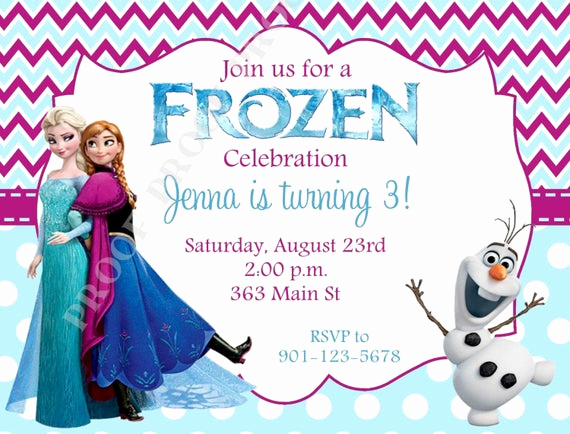 Free Printable Frozen Invitation Templates Fresh 10 Printed Frozen Invitations with Envelopes Free Return
