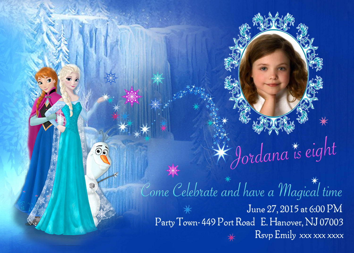 Free Printable Frozen Invitation Templates Lovely Diy Print Frozen Invitations Frozen Birthday Invites Elsa