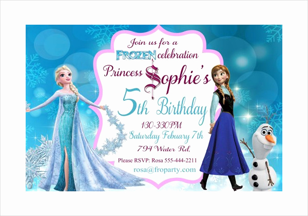Free Printable Frozen Invitation Templates New 13 Frozen Invitation Templates Word Psd Ai