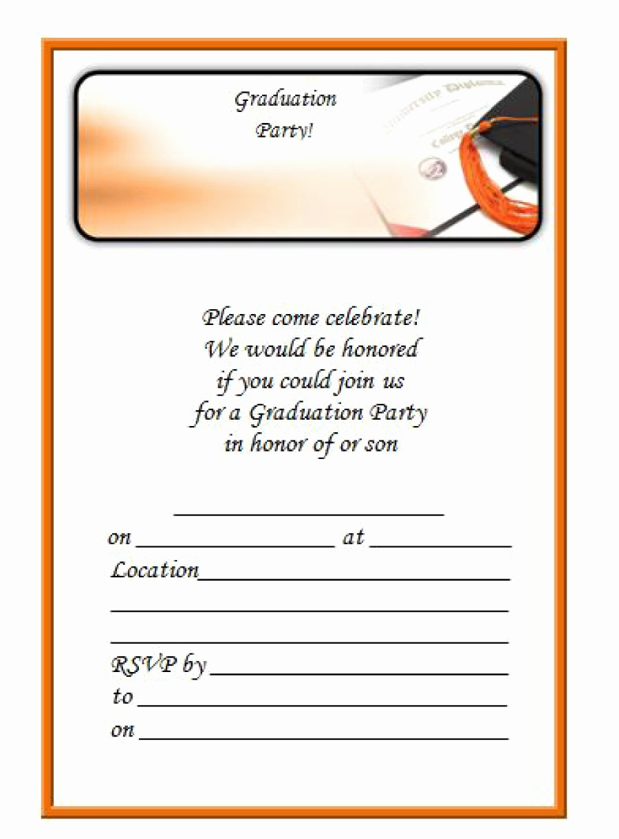 Free Printable Graduation Invitation Templates Inspirational 40 Free Graduation Invitation Templates Template Lab
