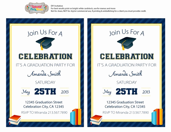 Free Printable Graduation Invitation Templates Inspirational Free Graduation Party Printables From Unlimited Party