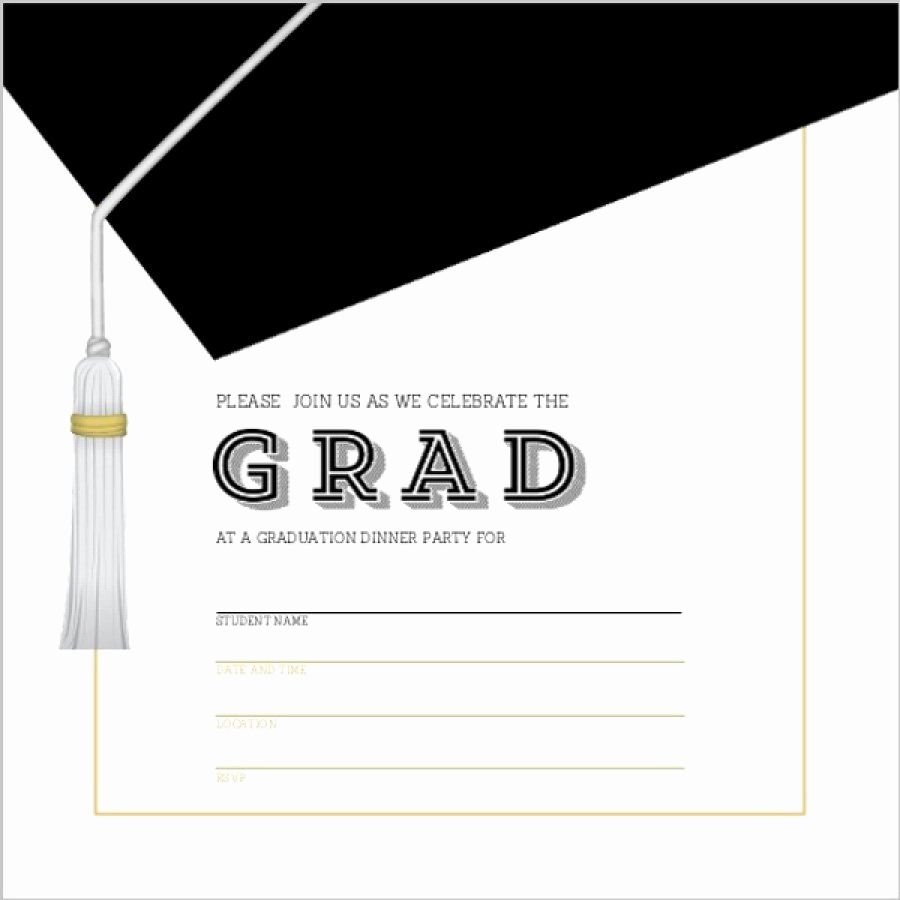 Free Printable Graduation Invitation Templates New 40 Free Graduation Invitation Templates Template Lab