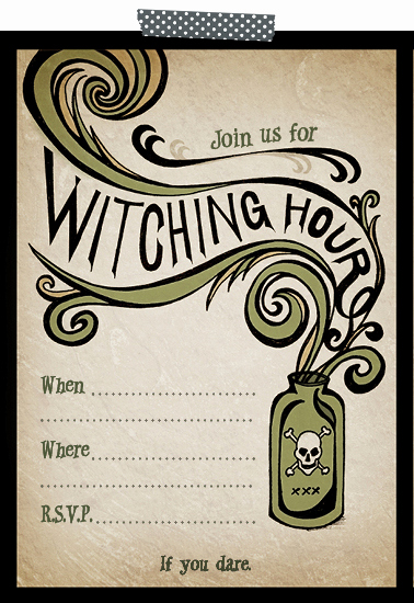 free printable halloween party invite