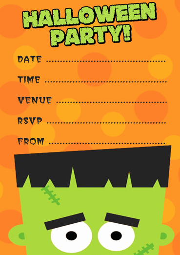 Free Printable Halloween Invitation Template Best Of Free Frankenstein Halloween Party Invitation Template