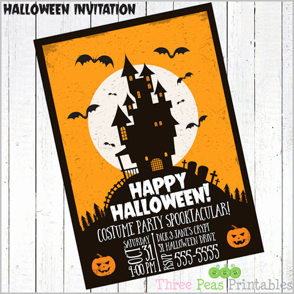 Free Printable Halloween Invitation Template Fresh 35 Halloween Invitation Templates Free Psd Invitations