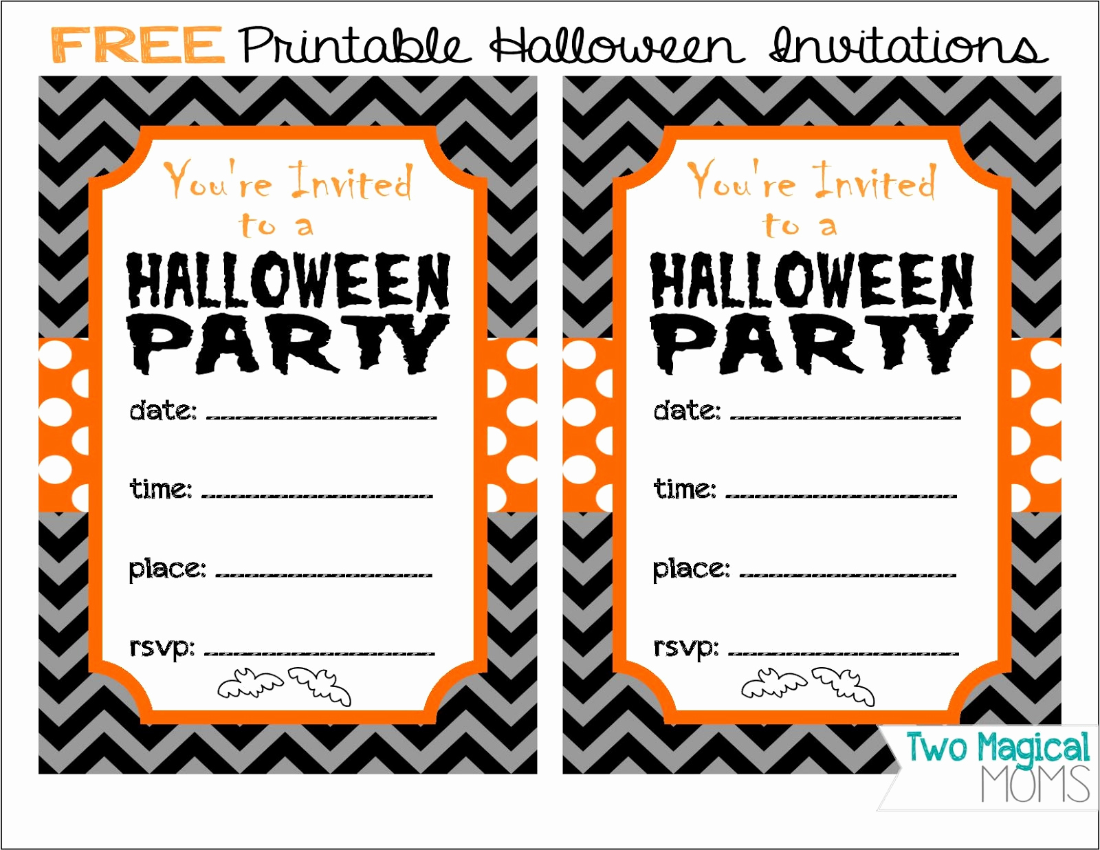 Free Printable Halloween Invitation Template Luxury Two Magical Moms Free Printable Halloween Invitations