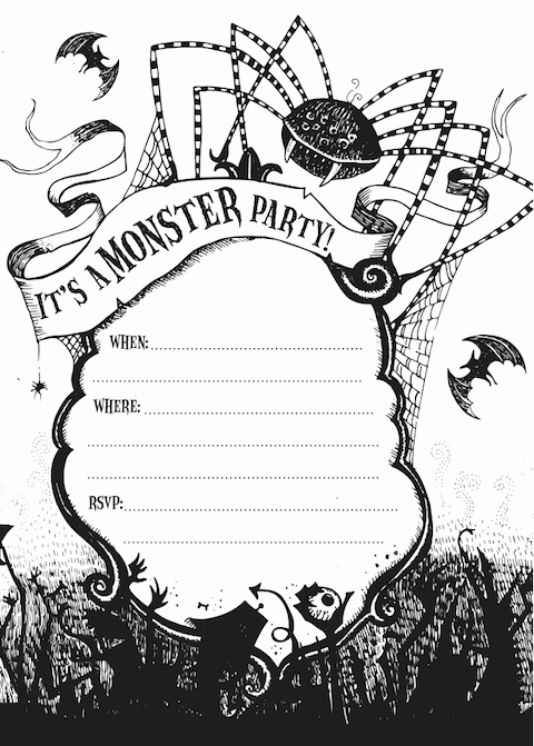 Free Printable Halloween Invitation Template New Free Printable Halloween Party Invitations Templates