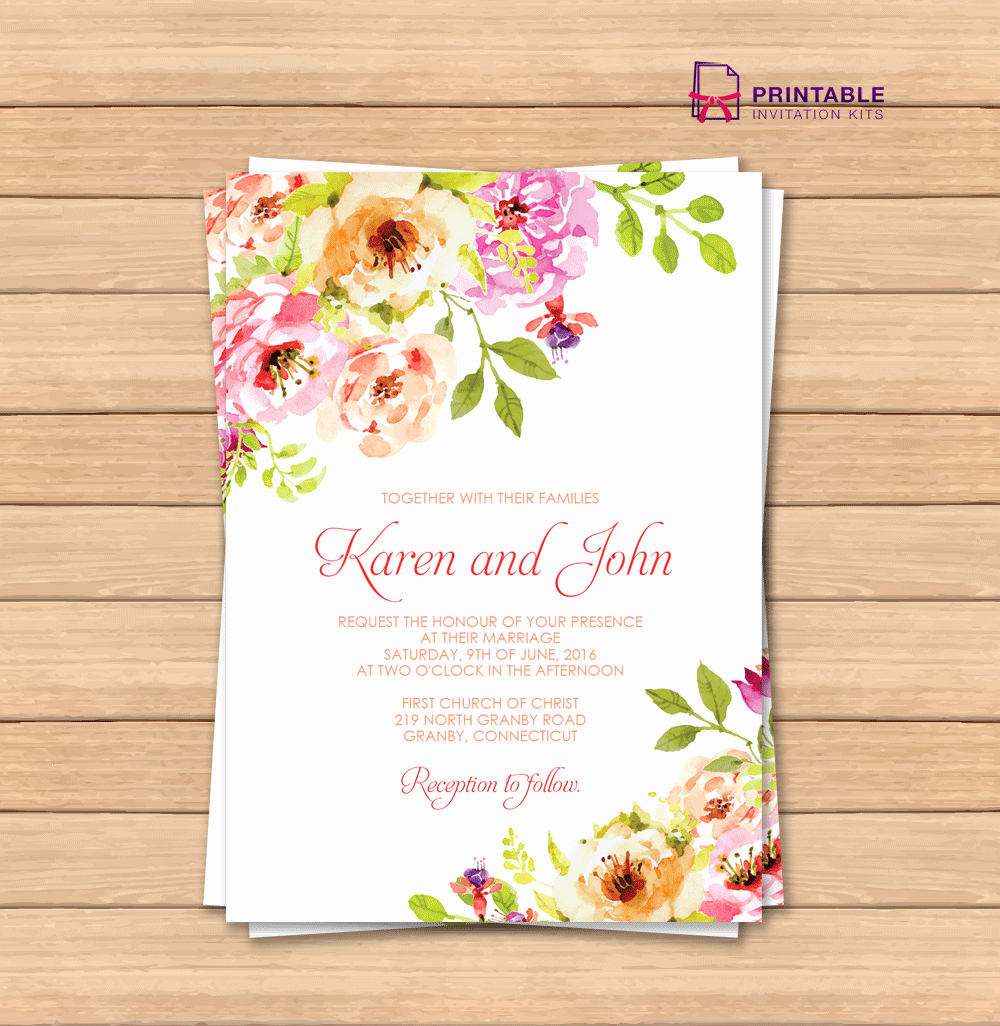 Free Printable Invitation Templates Awesome Vintage Floral Border Invitation Template ← Wedding
