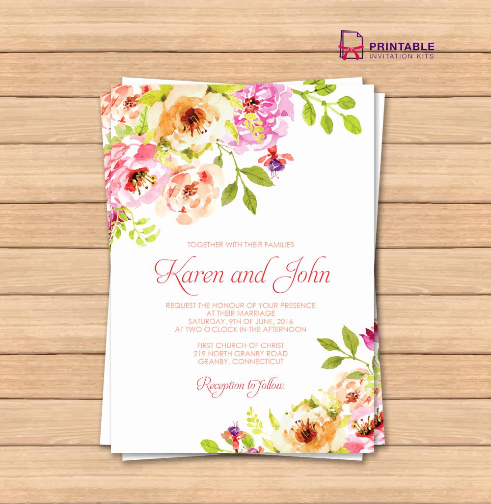Free Printable Invitation Templates Awesome Vintage Floral Border Invitation Template ← Wedding