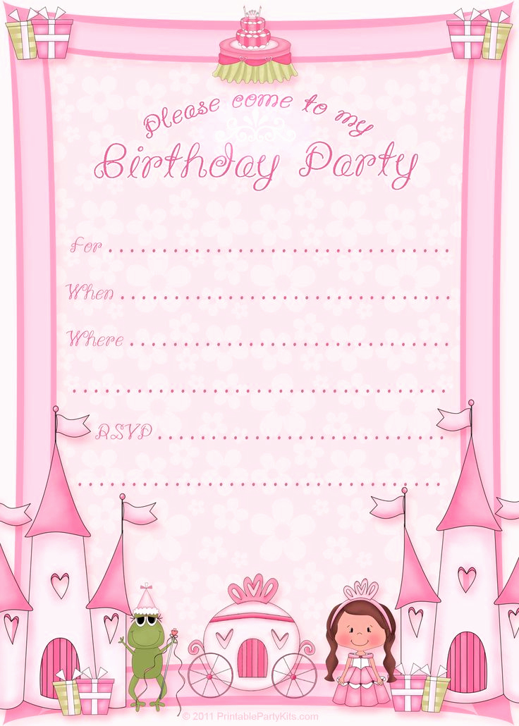 Free Printable Invitation Templates Elegant Free Printable Princess Birthday Invitation Template