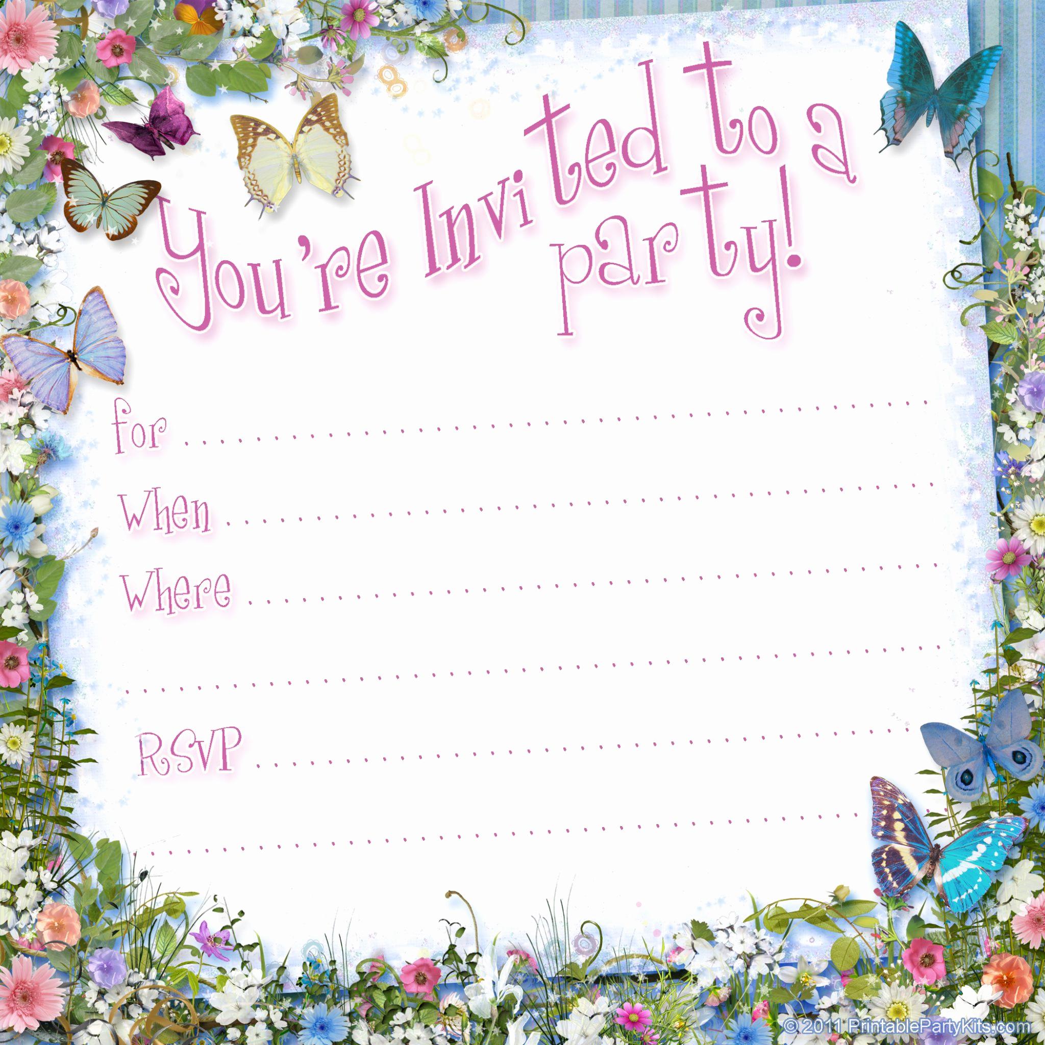 Free Printable Invitation Templates New Free Printable Invitations On Pinterest