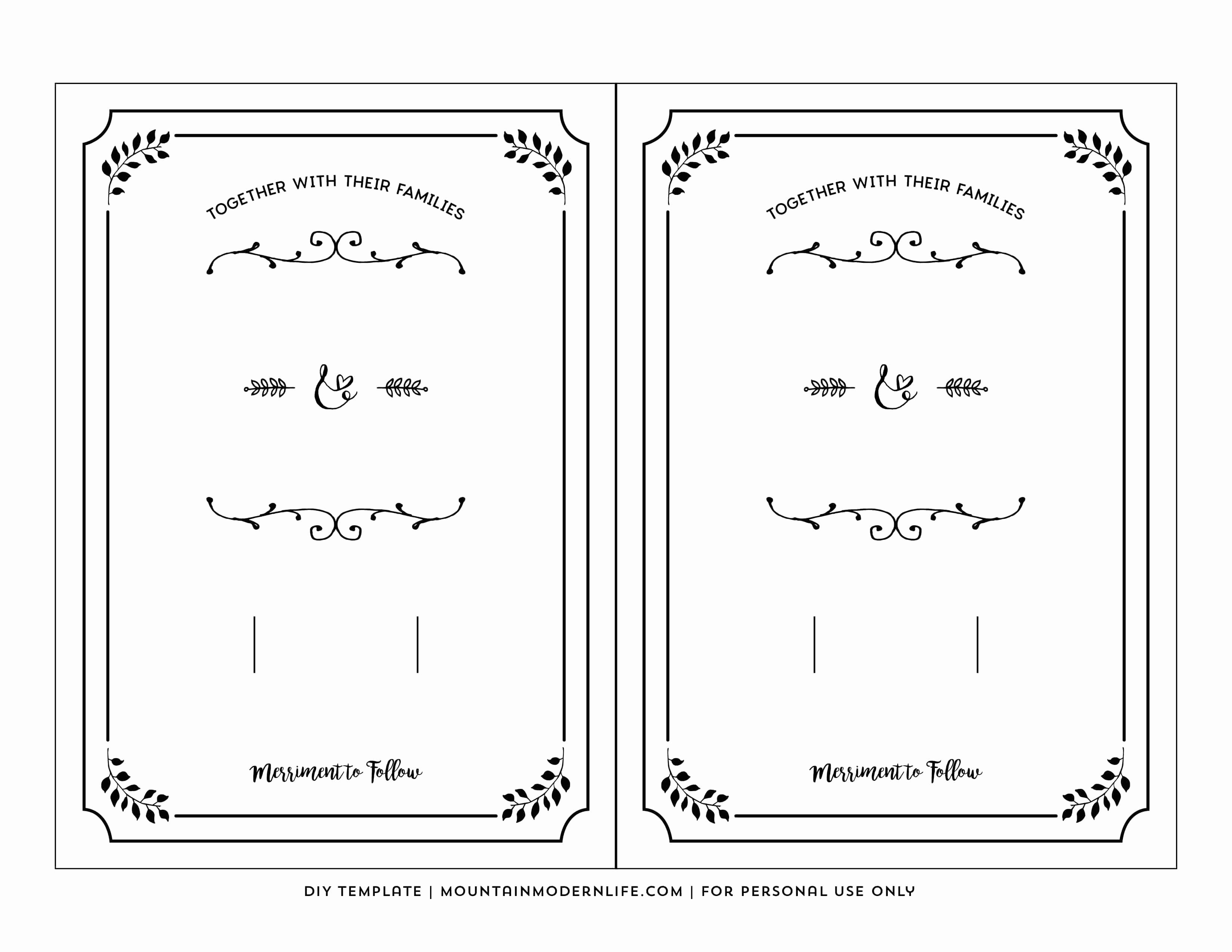 Free Printable Invitation Templates Unique Free Printable Wedding Invitation Template