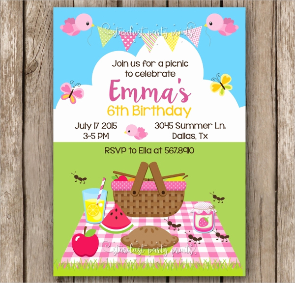 Free Printable Picnic Invitation Template Beautiful 10 Picnic Invitation Templates Word Psd Ai