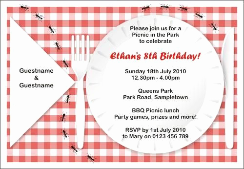 Free Printable Picnic Invitation Template Beautiful Free Printable Picnic Invitations Templates