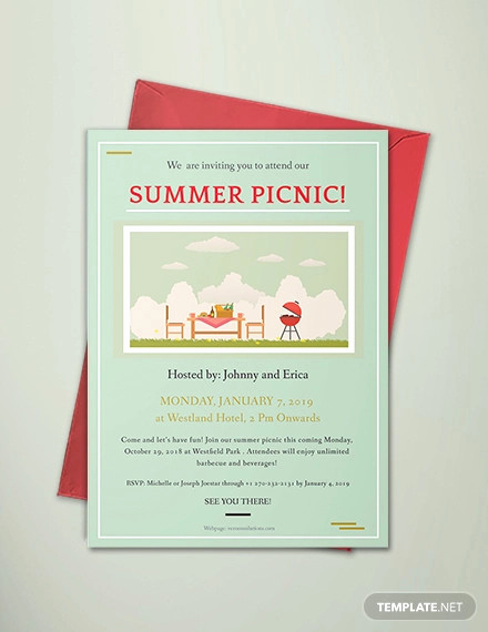 Free Printable Picnic Invitation Template Best Of 26 Picnic Invitation Templates Psd Word Ai