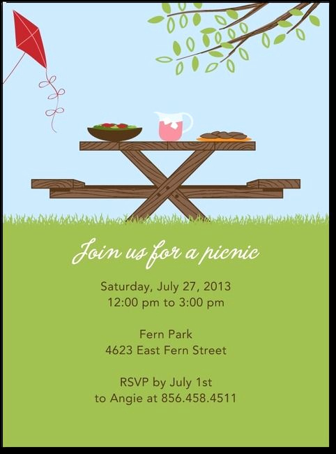 Free Printable Picnic Invitation Template Elegant 17 Of Backyard Bbq Potluck Template