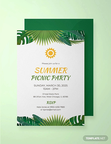 Free Printable Picnic Invitation Template Elegant 26 Picnic Invitation Templates Psd Word Ai