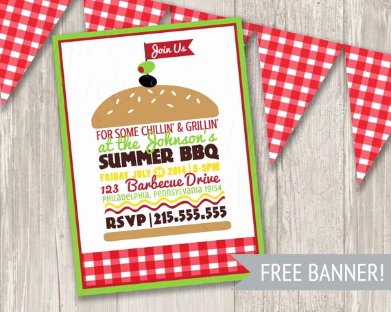 Free Printable Picnic Invitation Template New Bbq Invitation Summer Picnic Invitation Summer Party Burger