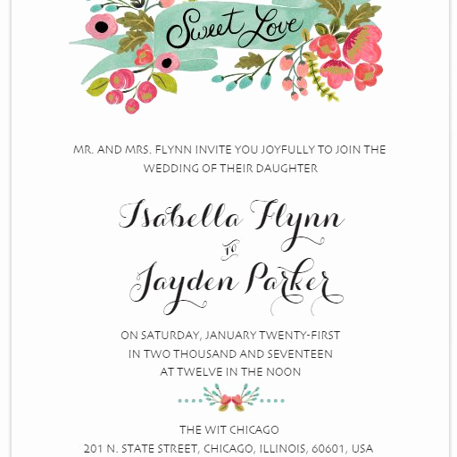 Free Printable Wedding Invitation Templates Fresh 550 Free Wedding Invitation Templates You Can Customize