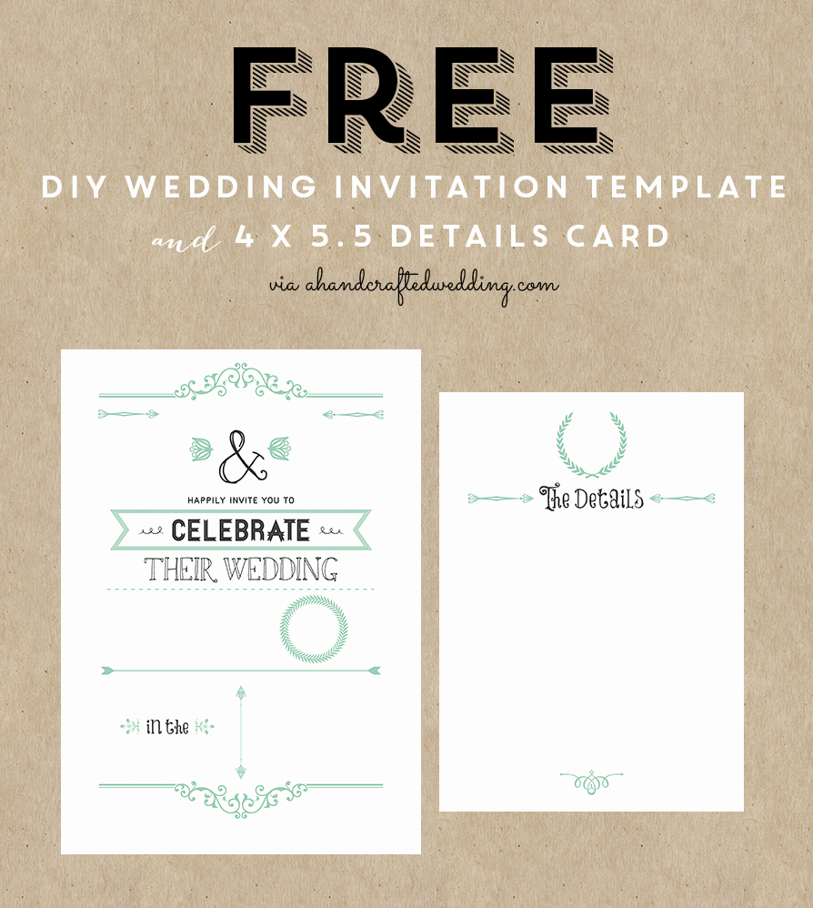 Free Printable Wedding Invitation Templates New Free Printable Wedding Invitation Template