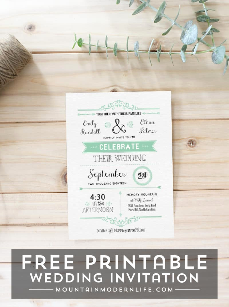 Free Printable Wedding Invitation Templates New Free Wedding Invitation Template