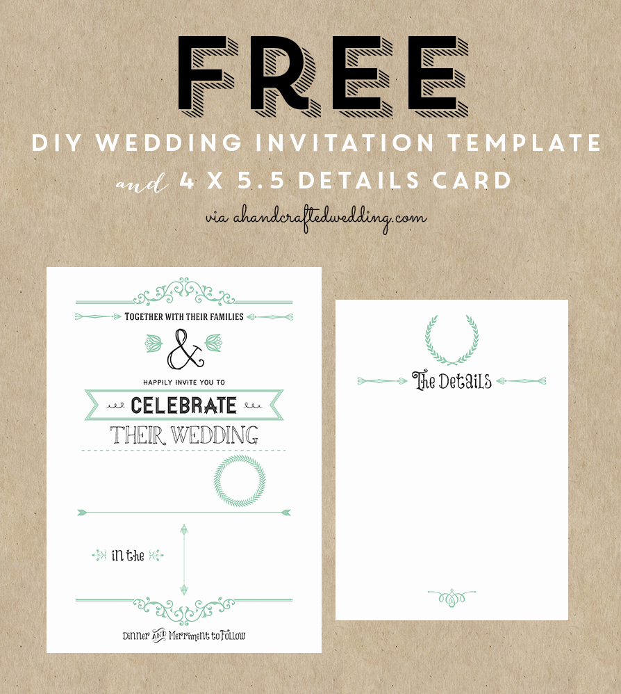 Free Printable Wedding Invitation Templates Unique Bridal Shower Invitation Free Templates for Word