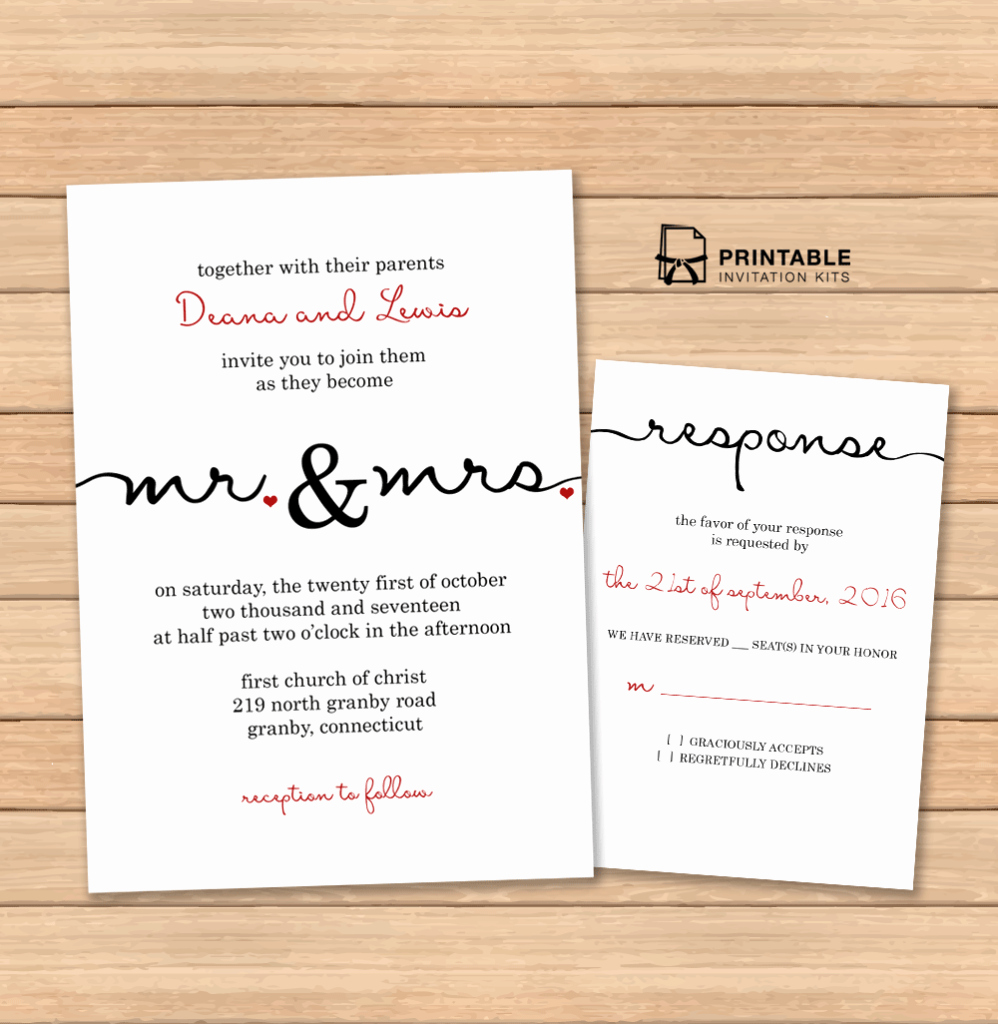Free Printable Wedding Invitation Templates Unique Free Pdf Wedding Templates with Easy to Edit Textboxes