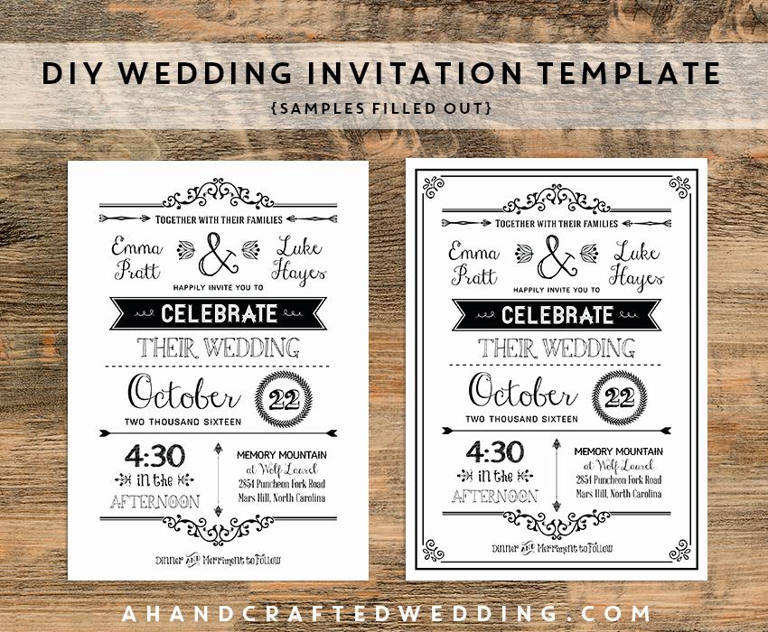 Free Rustic Wedding Invitation Templates Awesome Diy Black Rustic Wedding Invitation Templates Samples
