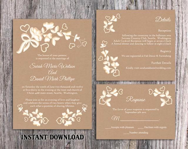 Free Rustic Wedding Invitation Templates Best Of Diy Lace Wedding Invitation Template Set Editable Word