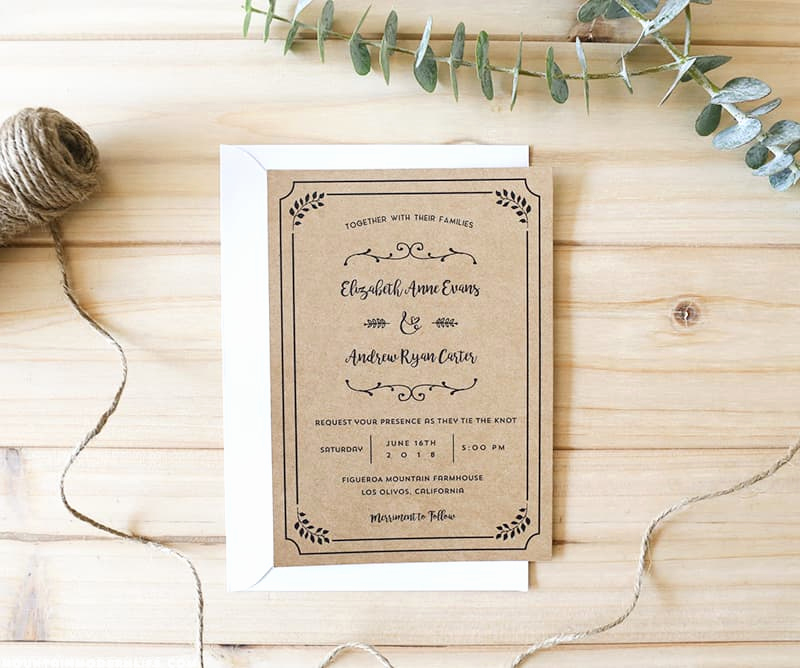 Free Rustic Wedding Invitation Templates Fresh Free Printable Wedding Invitation Template