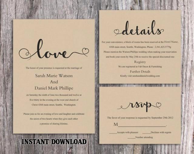 Free Rustic Wedding Invitation Templates Inspirational Diy Burlap Wedding Invitation Template Set Editable Word