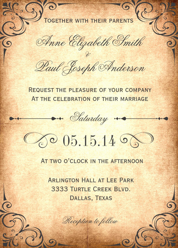 Free Rustic Wedding Invitation Templates Luxury 28 Wedding Invitation Wording Templates – Free Sample