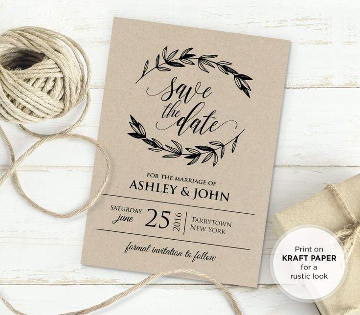 Free Rustic Wedding Invitation Templates New 25 Best Ideas About Invitation Templates On Pinterest
