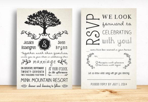 Free Rustic Wedding Invitation Templates New 28 Rustic Wedding Invitation Design Templates Psd Ai