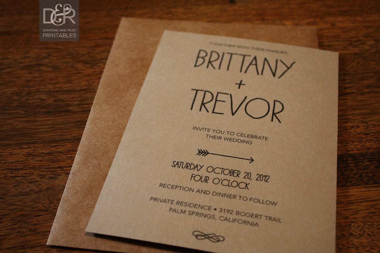 Free Rustic Wedding Invitation Templates Unique Rustic Woodsy Printable Wedding Invitation Suite by