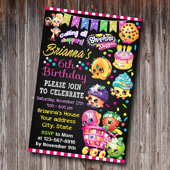 Free Shopkins Invitation Template Best Of Best 25 Shopkins Invitations Ideas On Pinterest