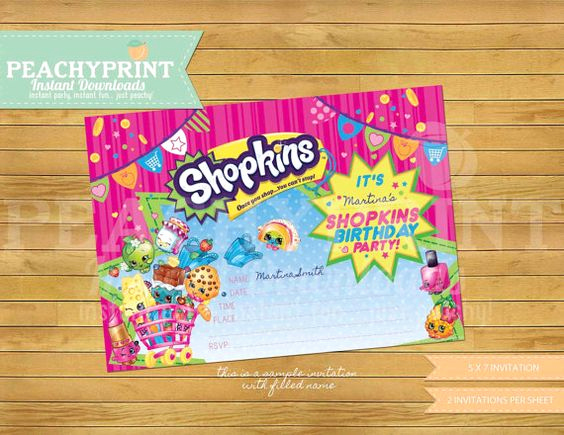 Free Shopkins Invitation Template Best Of Birthdays Birthday Invitations and Shopkins On Pinterest