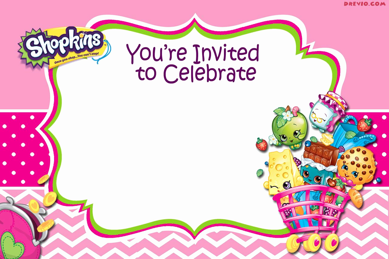 Free Shopkins Invitation Template Fresh Updated Free Printable Shopkins Birthday Invitation