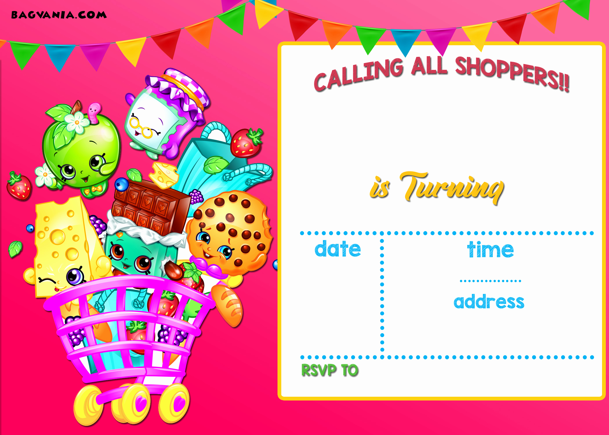 Free Shopkins Invitation Template Inspirational Calling All Shoppers Here are Free Blank Shopkins