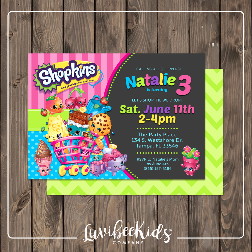 Free Shopkins Invitation Template Inspirational Shopkins Invitation
