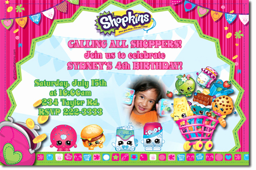 Free Shopkins Invitation Template Unique Shopkins Birthday Invitations Candy Wrappers Thank You